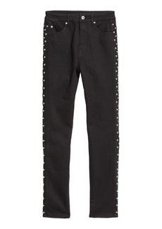 H&M H & M - Slim-fit Pants with Studs - Black