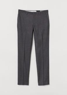 H&M H & M - Slim Fit Suit Pants - Gray
