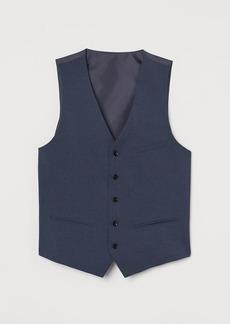 H&M H & M - Slim Fit Suit Vest - Blue