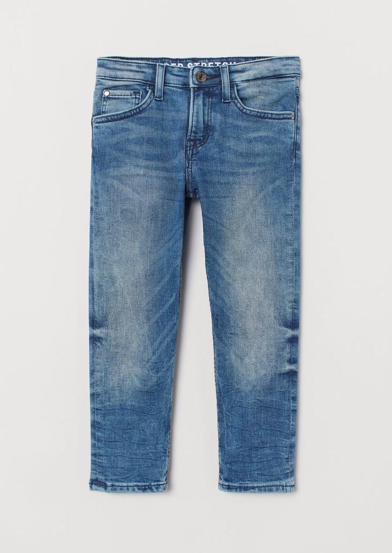 H&M H & M - Slim Fit Superstretch Jeans - Blue