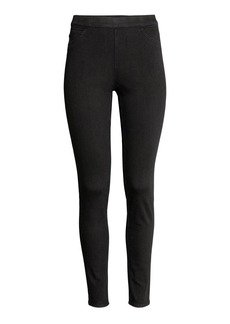 H&M H & M - Slim-fit Treggings - Black