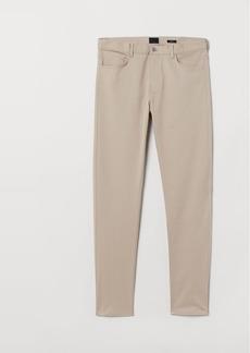 H&M H & M - Slim Fit Twill Pants - Beige