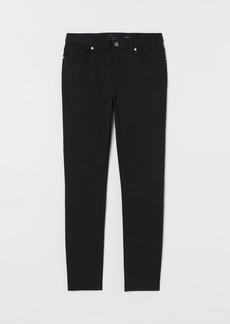 H&M H & M - Slim Fit Twill Pants - Black