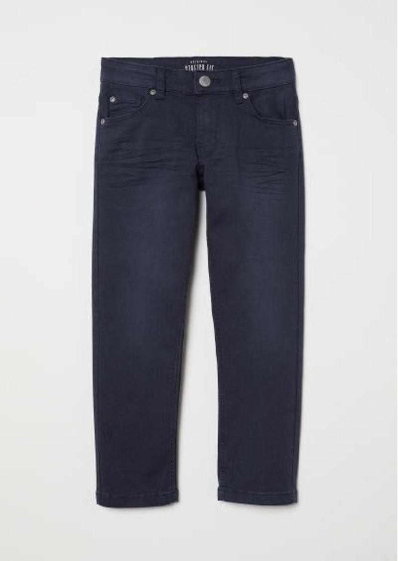 H&M H & M - Slim-fit Twill Pants - Blue