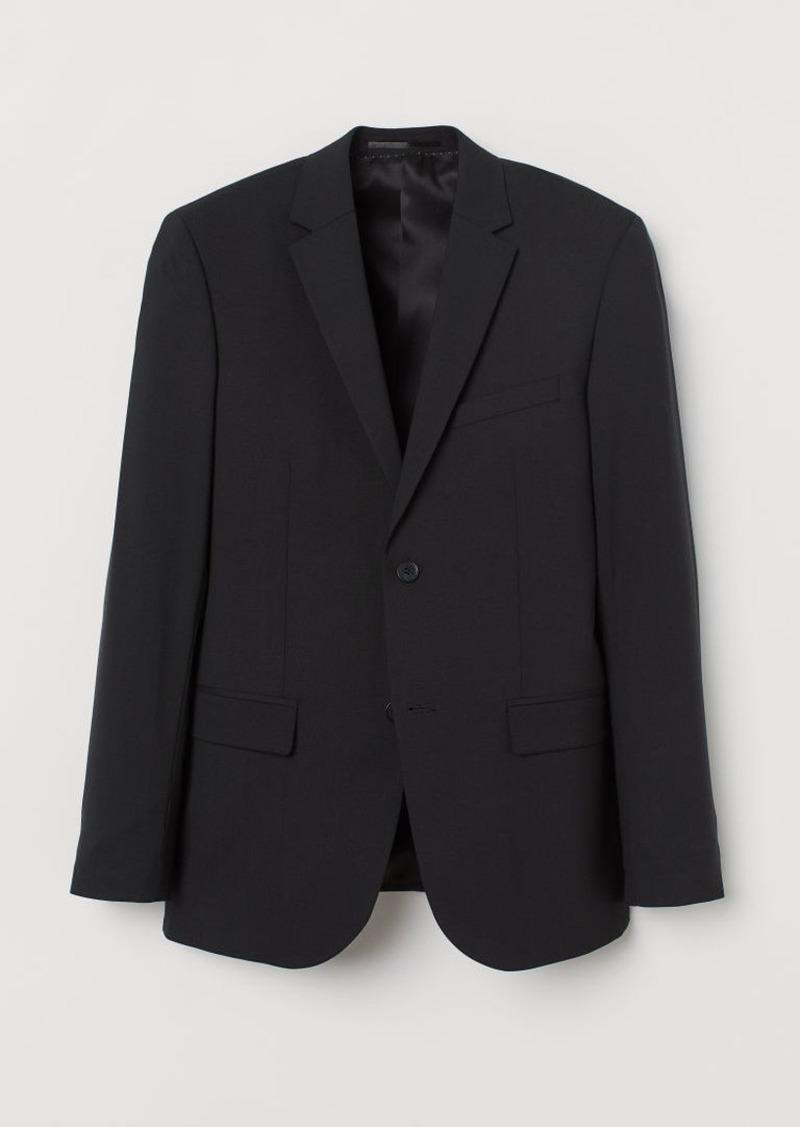 H&M H & M - Slim Fit Wool Blazer - Black