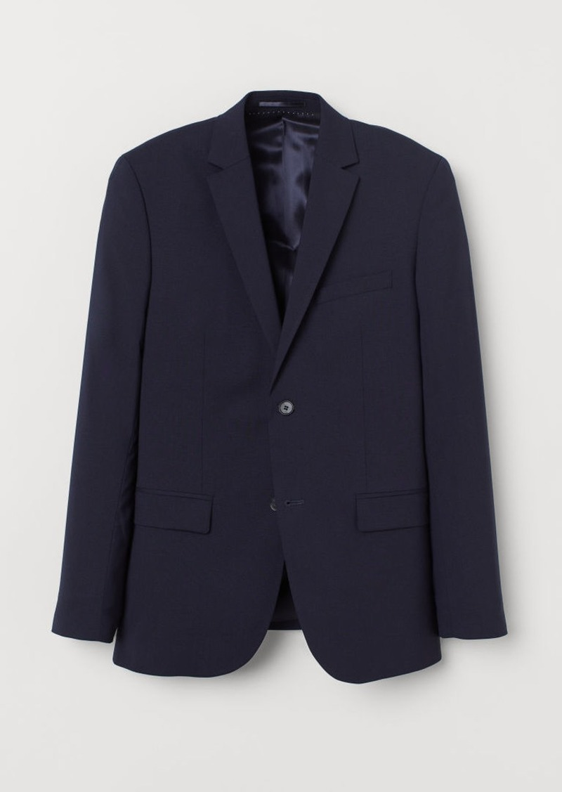 H&M H & M - Slim Fit Wool Blazer - Blue