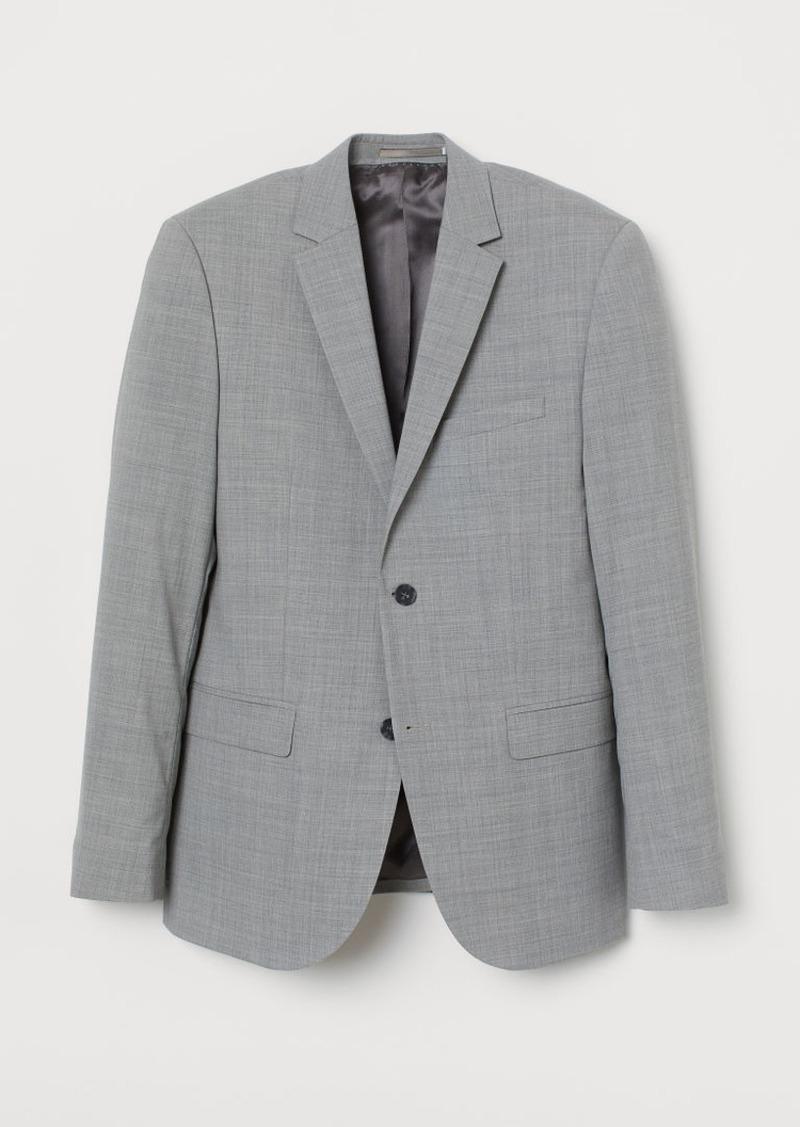 H&M H & M - Slim Fit Wool Blazer - Gray