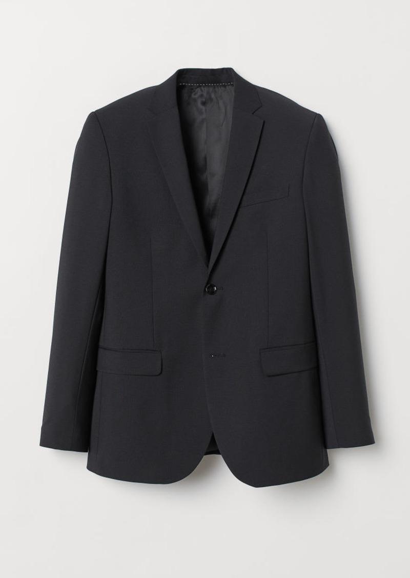 H&M H & M - Slim Fit Wool-blend Blazer - Black
