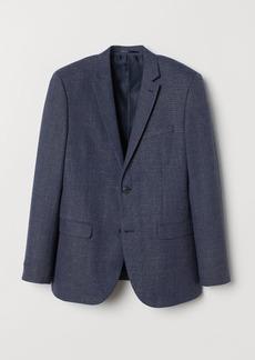 H&M H & M - Slim Fit Wool-blend Blazer - Blue