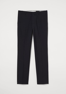 H&M H & M - Slim fit Wool-blend Pants - Black