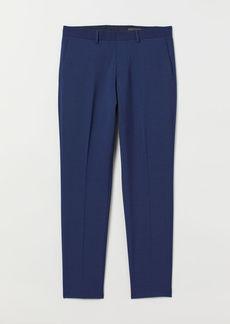 H&M H & M - Slim fit Wool-blend Pants - Blue