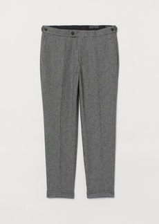 H&M H & M - Slim fit Wool-blend Pants - Gray