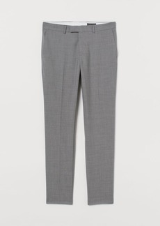 H&M H & M - Slim Fit Wool Suit Pants - Gray