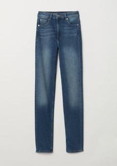 H&M H & M - Slim High Jeans - Blue