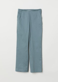 H&M H & M - Slim High Waist Pants - Turquoise