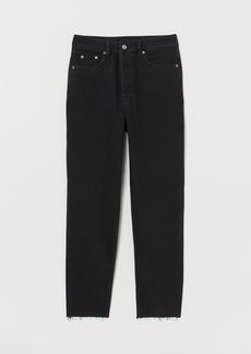 H&M H & M - Slim Mom High Ankle Jeans - Black