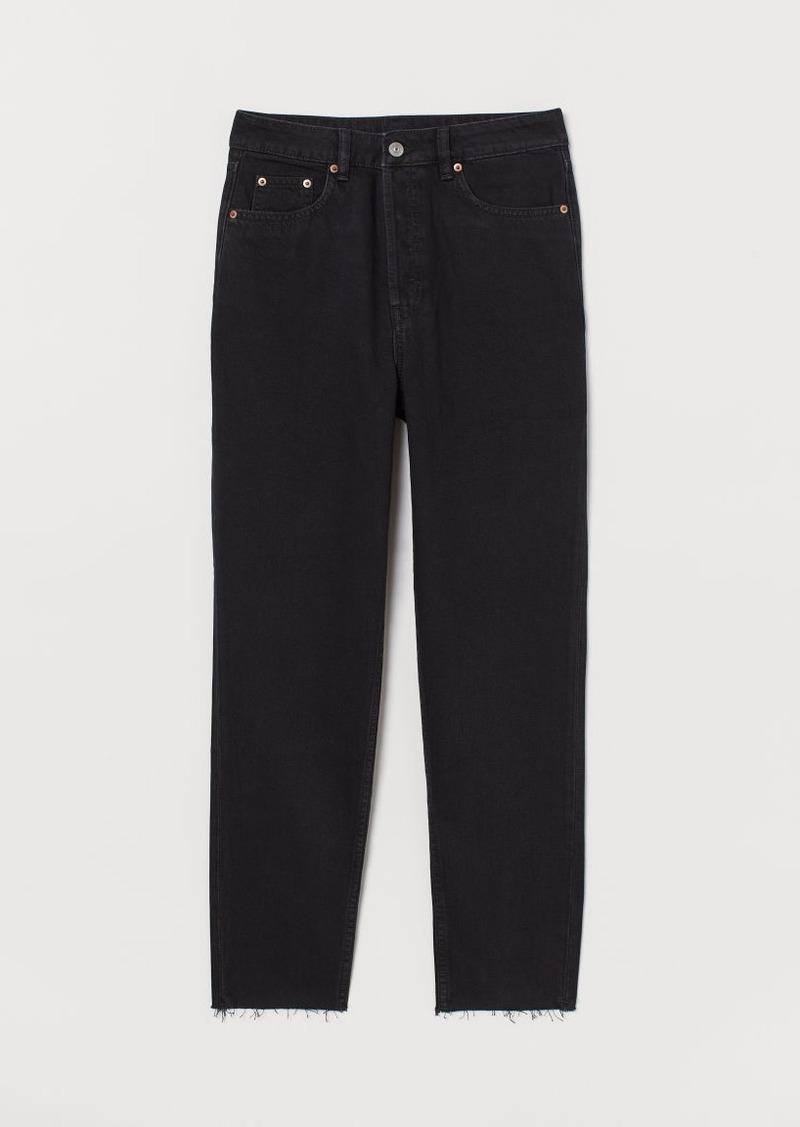 H&M H & M - Slim Mom Jeans - Black