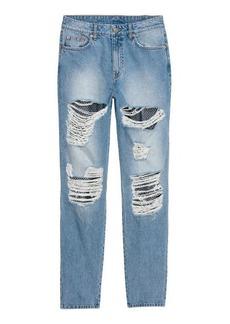 H&M H & M - Slim Mom Jeans - Blue