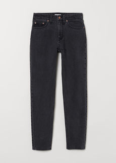 H&M H & M - Slim Regular Ankle Jeans - Black