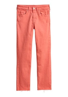 H&M H & M - Slim Regular Ankle Jeans - Orange