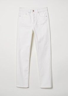 H&M H & M - Slim Regular Ankle Jeans - White