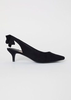 H&M H & M - Slingbacks with Bow - Black