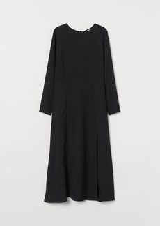 H&M H & M - Slit-front Dress - Black