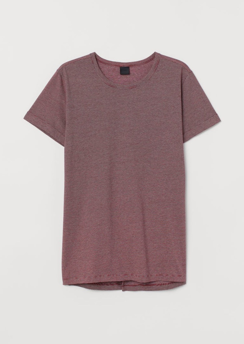 H&M H & M - Slub Jersey T-shirt - Red