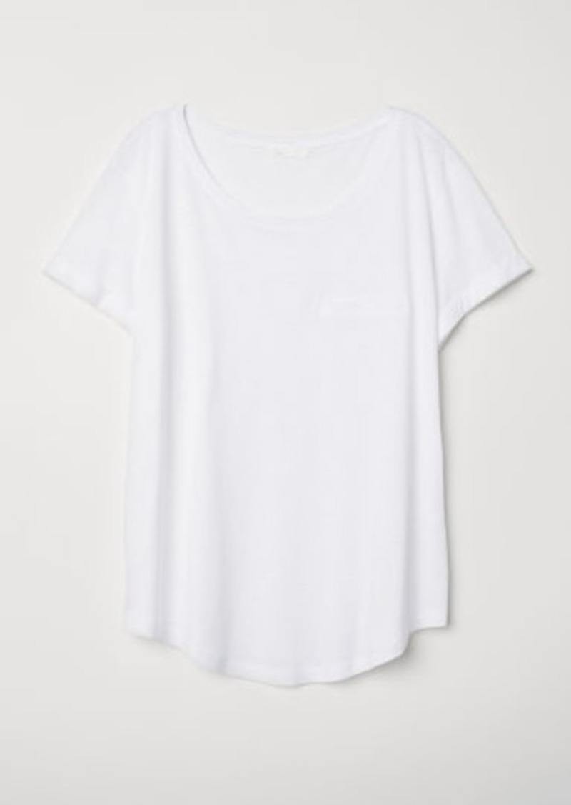 H&M H & M - Round-neck T-shirt - White