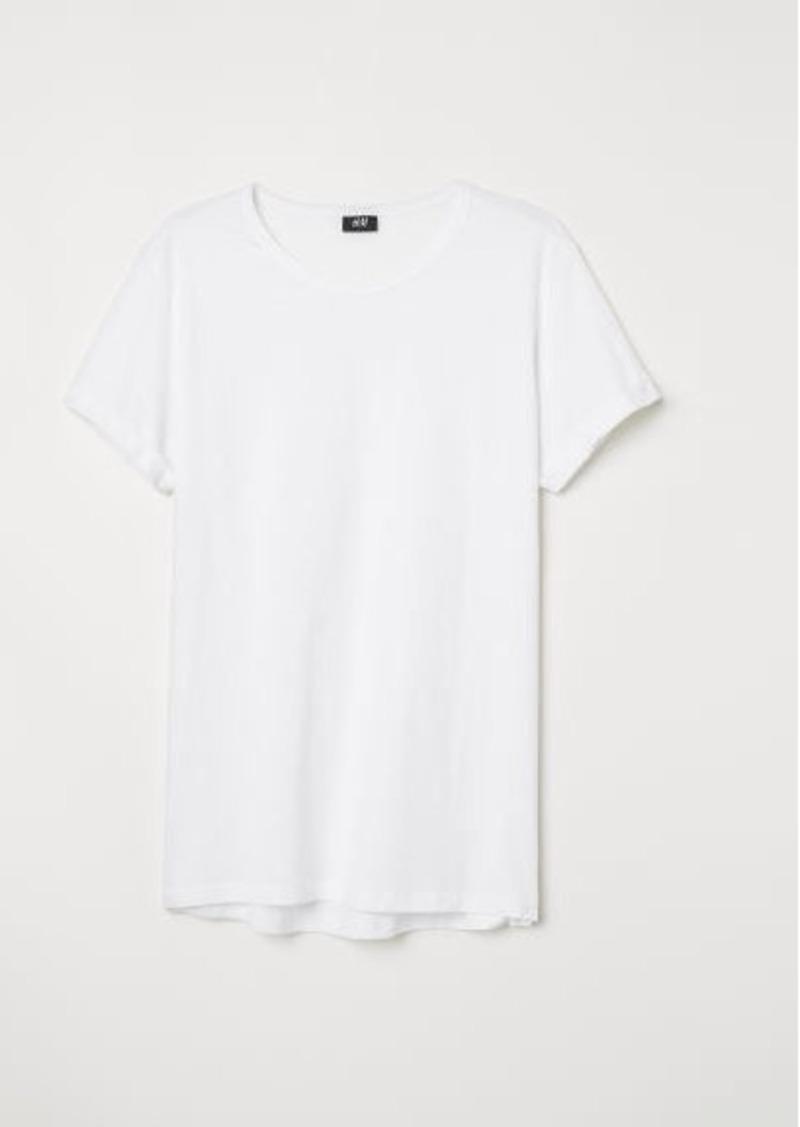 H&M H & M - Slub Jersey T-shirt - White