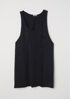 H&M H & M - Slub Jersey Tank Top - Black