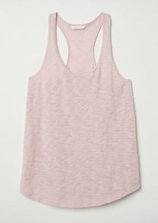H&M H & M - Slub Jersey Tank Top - Orange