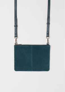 H&M H & M - Small Bag with Suede Details - Turquoise