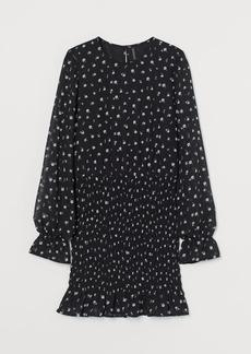 H&M H & M - Smock-detail Dress - Black