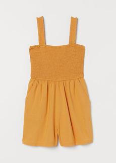 H&M H & M - Smocked Romper - Orange