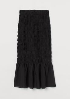 H&M H & M - Smocked Skirt - Black