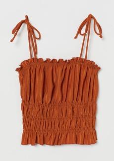 H&M H & M - Smocked Top - Orange