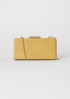 H&M H & M - Snakeskin-patterned Clutch Bag - Yellow