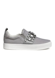 H&M H & M - Sneakers with Appliqués - Gray