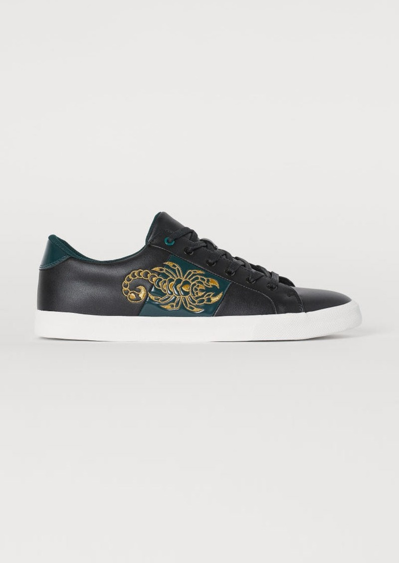 H&M H & M - Sneakers with Embroidery - Black