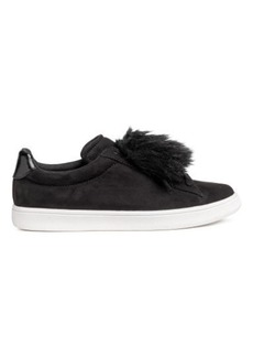 H&M H & M - Sneakers with Faux Fur - Black