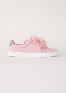 H&M H & M - Sneakers with Faux Fur - Pink