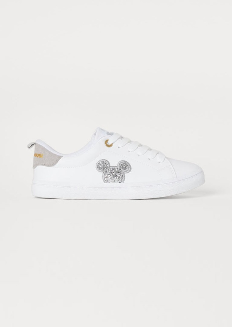 H&M H & M - Sneakers with Glitter - White