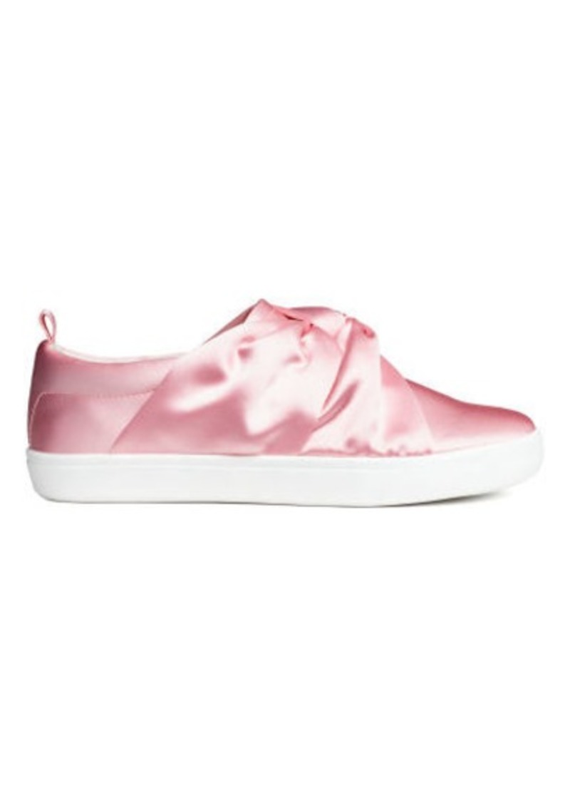 H&M H & M - Sneakers with Knot Detail - Pink