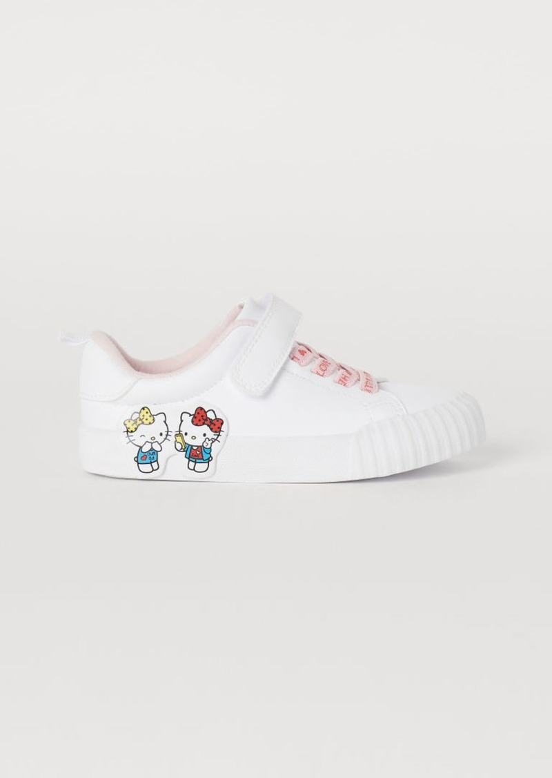 H&M H & M - Sneakers with Printed Design - White