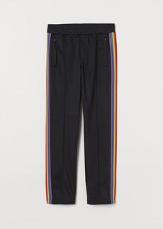 H&M H & M - Sports Pants with Side Stripes - Black