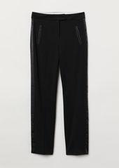 H&M H & M - Stovepipe Pants - Black