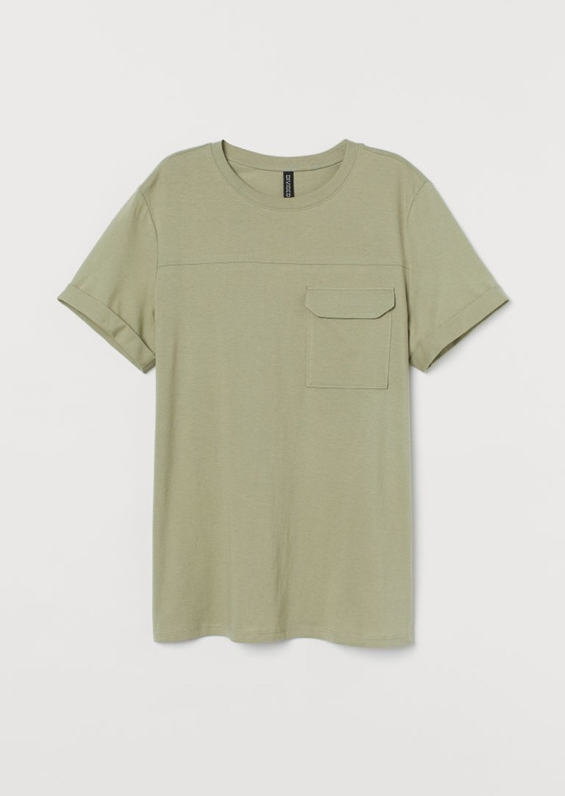 H&M H & M - Straight-cut T-shirt - Green