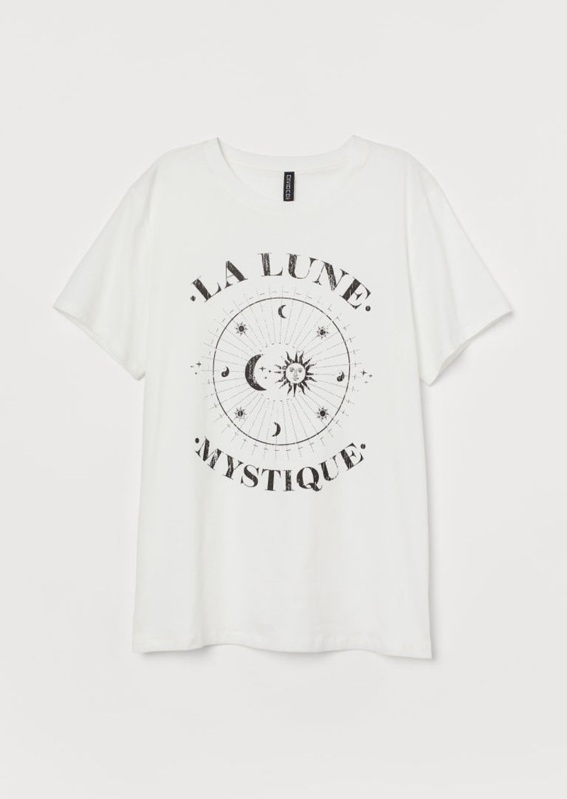 H&M H & M - Straight-cut T-shirt - White