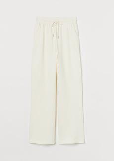 H&M H & M - Straight-legged Joggers - White